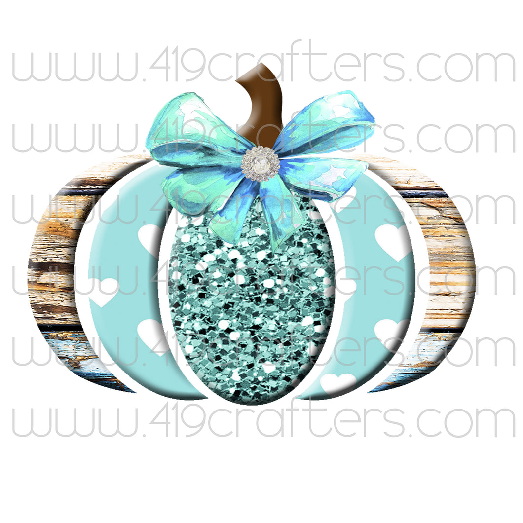 Sublimation Print - Teal Pumpkin