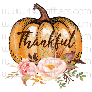 White Toner Laser Print  - Thankful Pumpkin