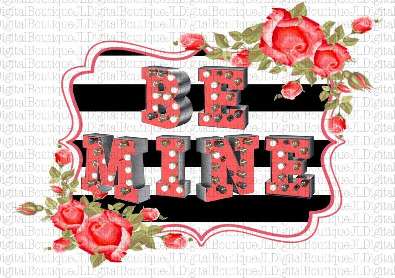 White Toner Laser Print  - Be Mine
