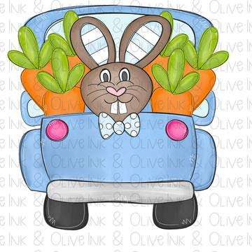 Sublimation Print - Boy Bunny Truck