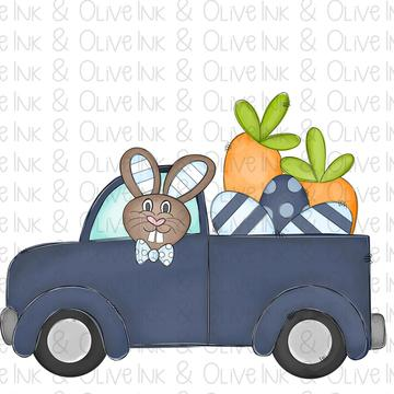 Sublimation Print -  Bunny Boy Truck 2