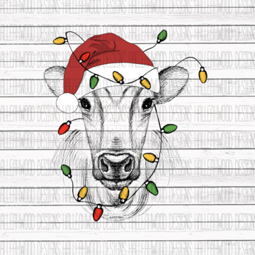 Sublimation Print - Christmas Cow