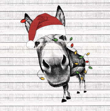 Sublimation Print - Christmas Donkey