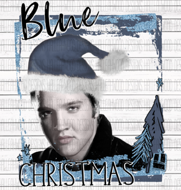 Sublimation Print - Elvis Blue Christmas