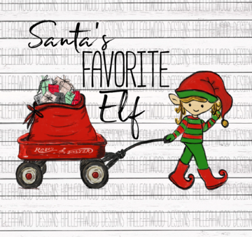 Sublimation Print - Santa's Favorite Elf