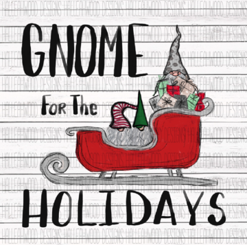 White Toner Laser Print - Gnome for the Holidays