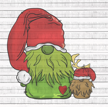 Sublimation Print - Grinch Gnome