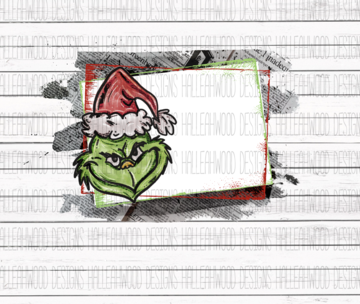 White Toner Laser Print - Grinch Template