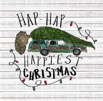 Sublimation Print - Hap-Hap Happiest Christmas