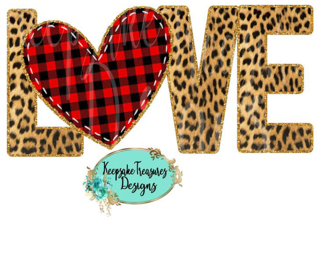 Sublimation Print - Leopard LOVE