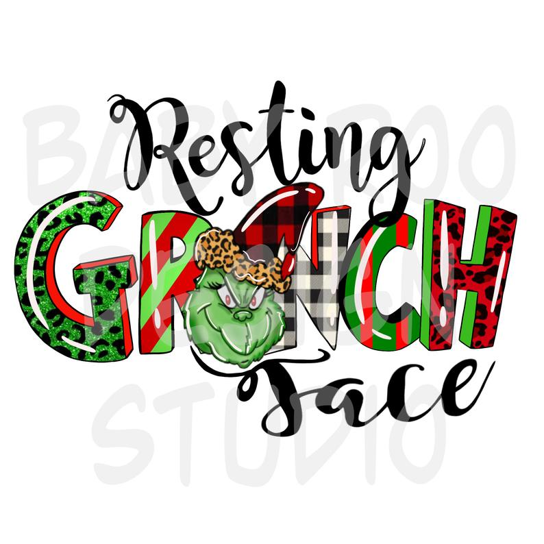 Sublimation Print - Resting Grinch Face 1