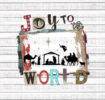 Sublimation Print - Joy to the World 2