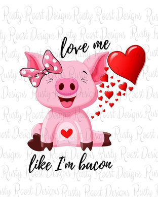 White Toner Laser Print  - Love Me Like I am Bacon