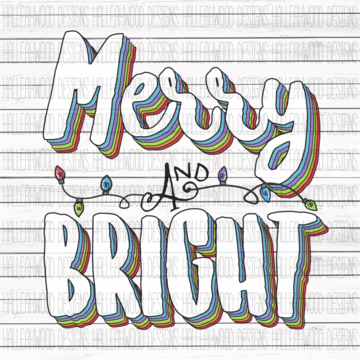 Sublimation Print - Merry and Bright 3