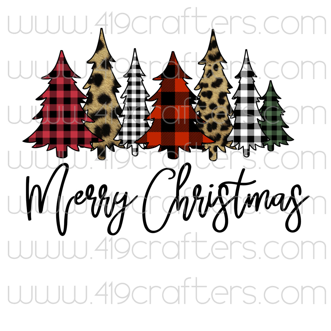 Sublimation Print - Merry Christmas Tree Lot