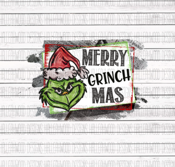 Sublimation Print - Merry Grinchmas