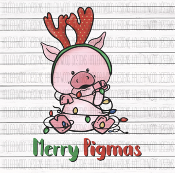 Sublimation Print - Merry Pigmas