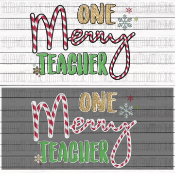 White Toner Laser Print - Merry Teacher