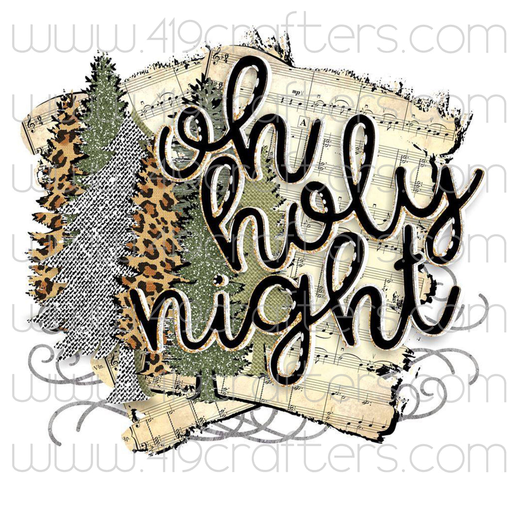 Sublimation Print - Oh Holy Night