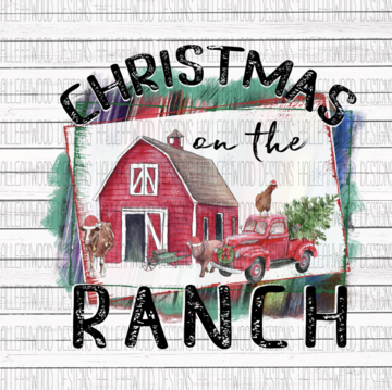 Sublimation Print - Christmas on the Ranch