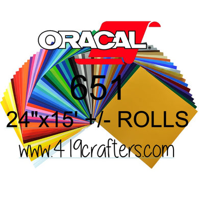 Oracal 651 Adhesive Craft Vinyl Standard Colors 24