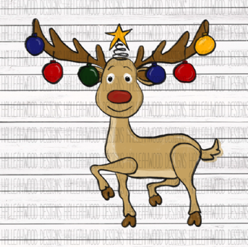 White Toner Laser Print - Rudolph Primary Colors