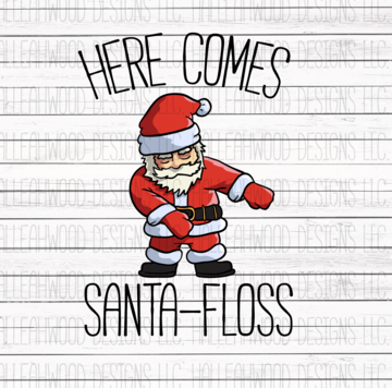 Sublimation Print - Santa Floss
