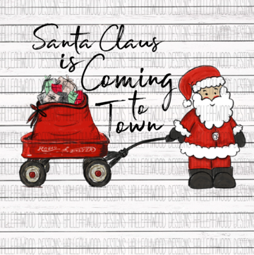 White Toner Laser Print - Santa Claus is Coming to Town