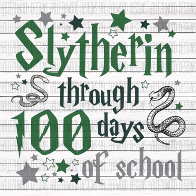 Sublimation Print - Slytherin Through 100 Days