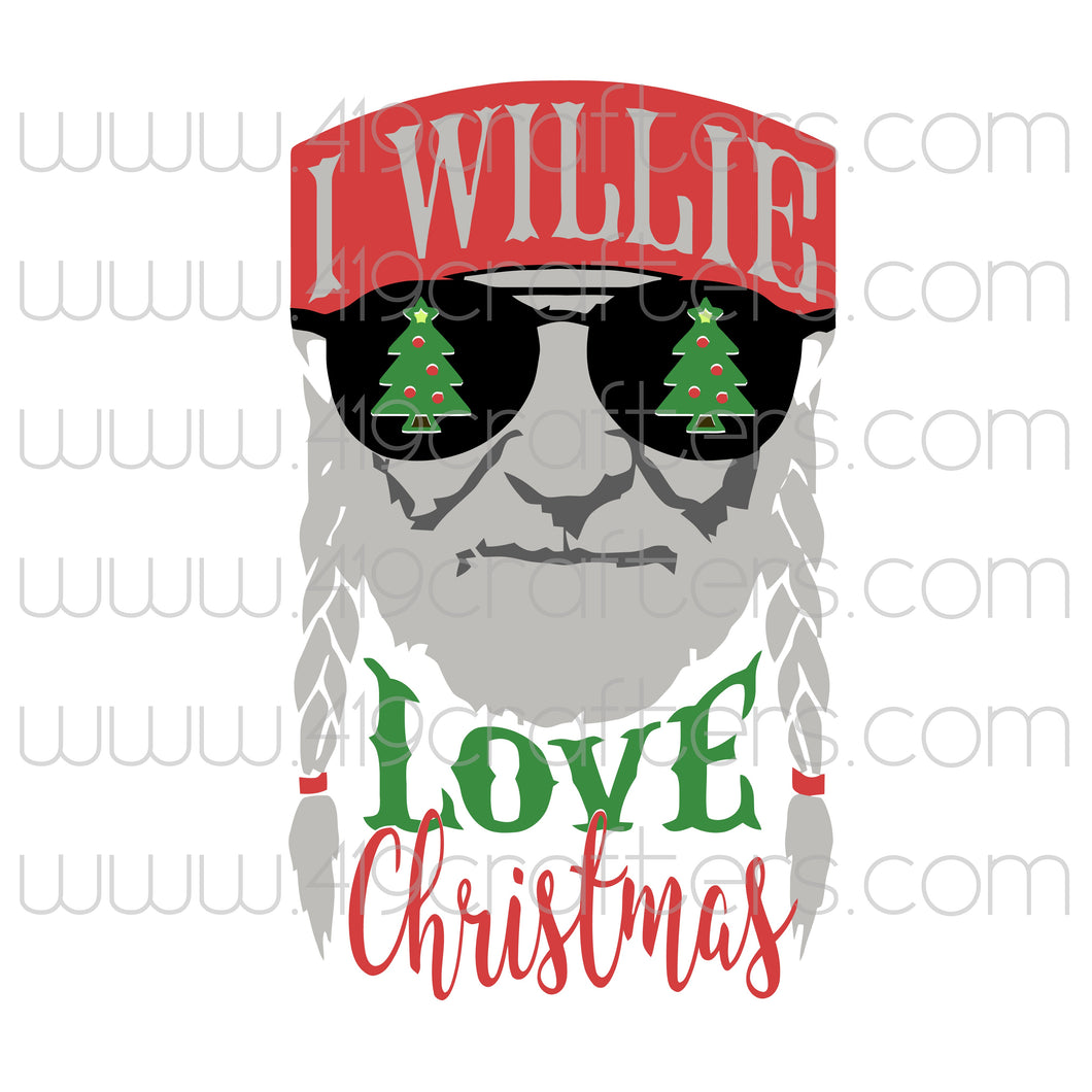 White Toner Laser Print - I Willie Love Christmas
