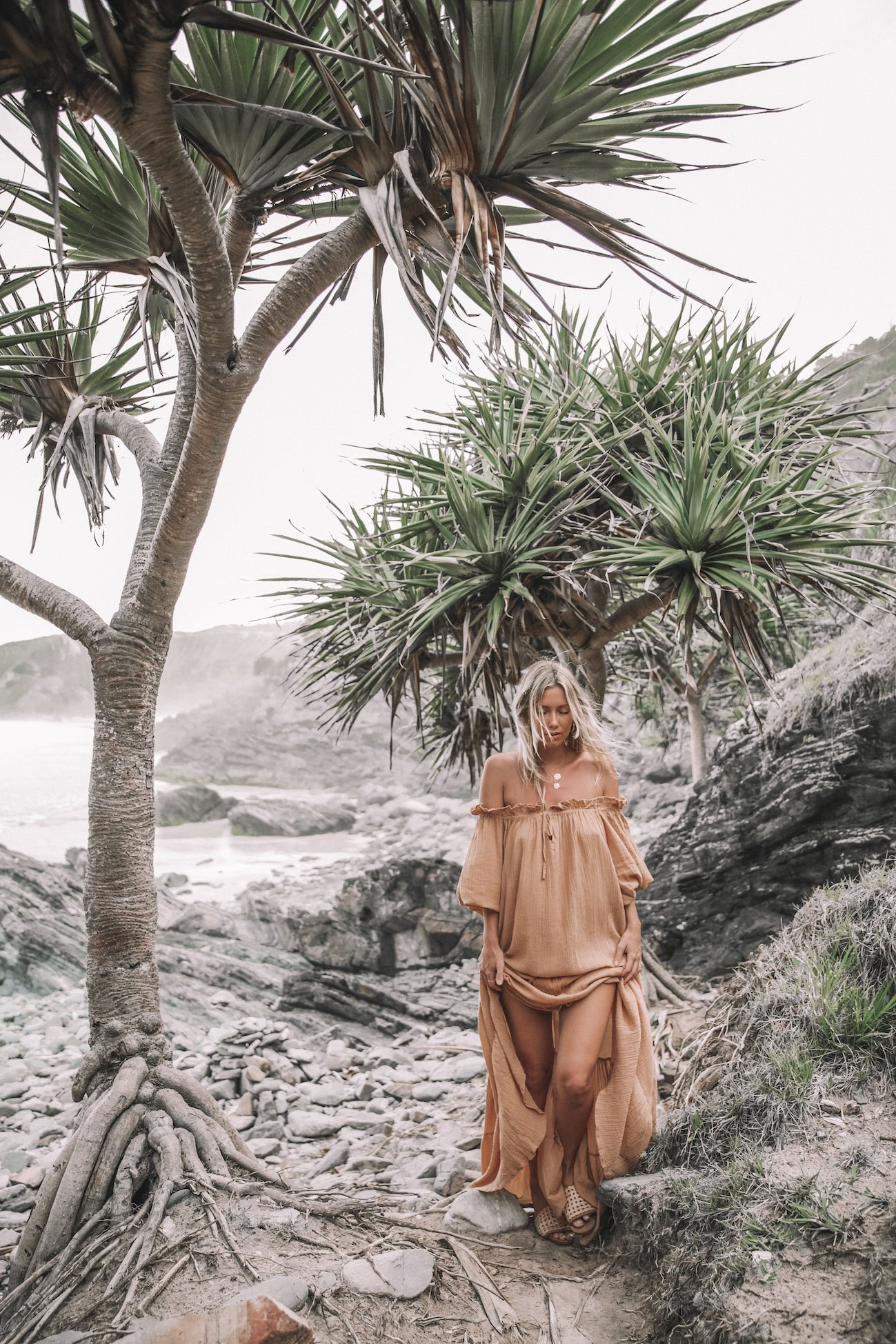 THE EMMALINE GOWN | TOASTED PEACH | SAMPLE + SECONDS