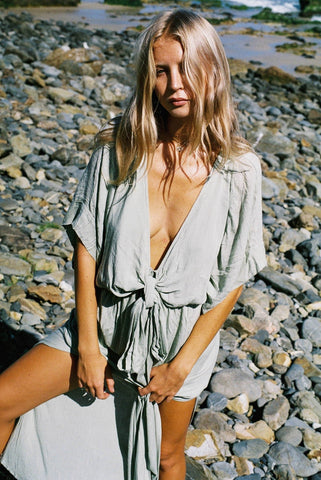 THE PIPER TIE TOP | NUDE LINEN