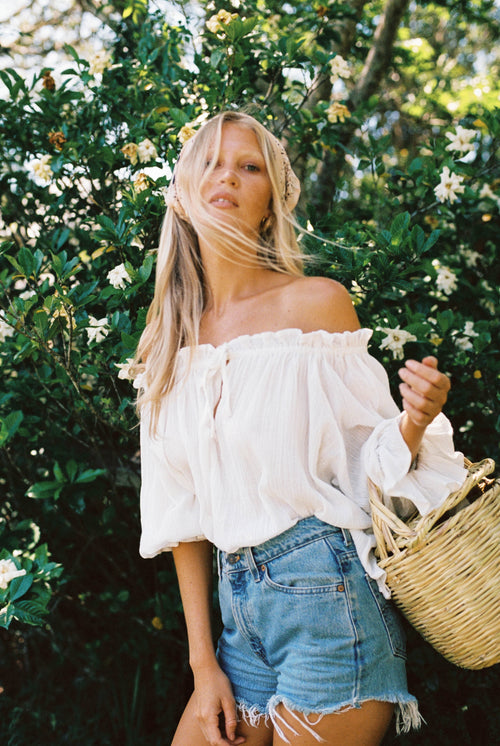 THE EMMALINE BLOUSE | WHITE