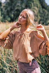 THE EMMALINE BLOUSE | TOASTED PEACH