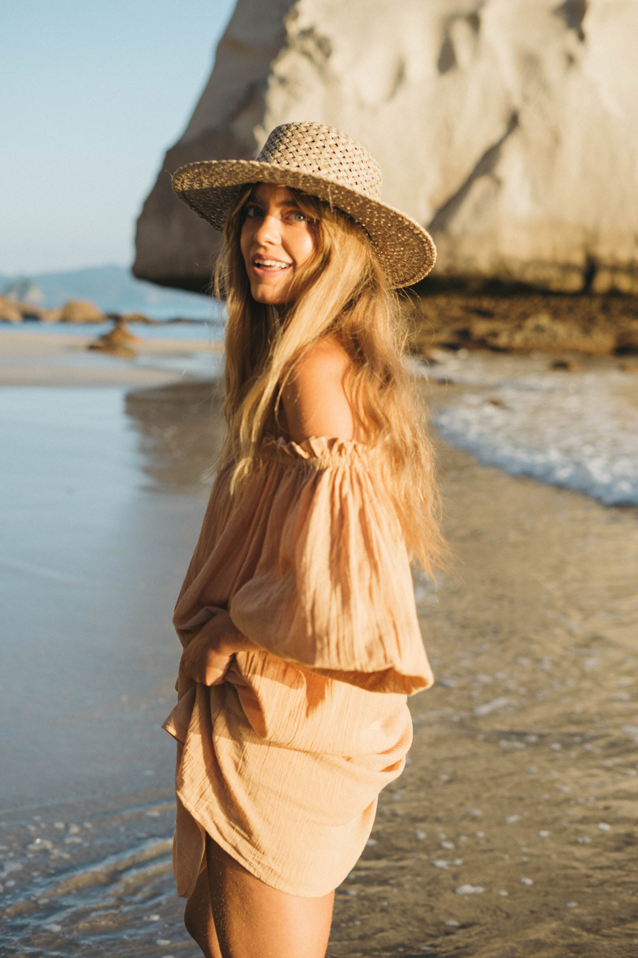 THE EMMALINE TUNIC | TOASTED PEACH