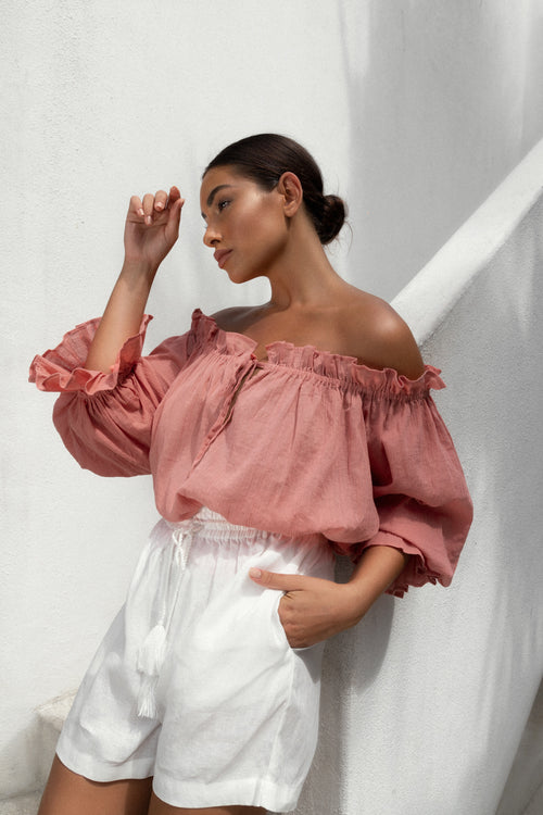 THE EMMALINE BLOUSE | DUSTY ROSE