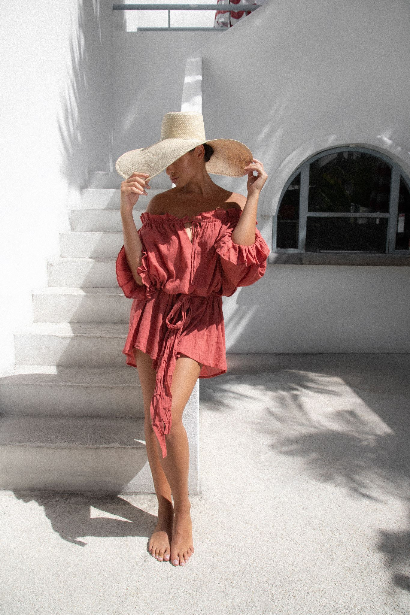 THE EMMALINE TUNIC | DEEP ROSE