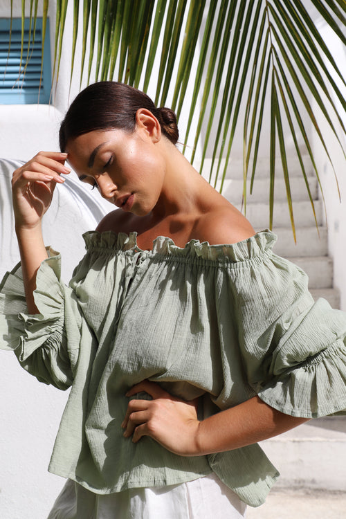 THE EMMALINE BLOUSE | SAGE