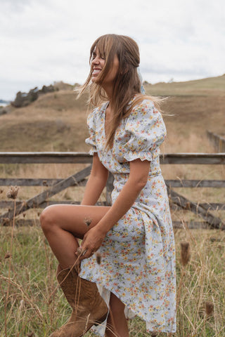 THE FARRAH MINI DRESS | SPRING BOUQUET