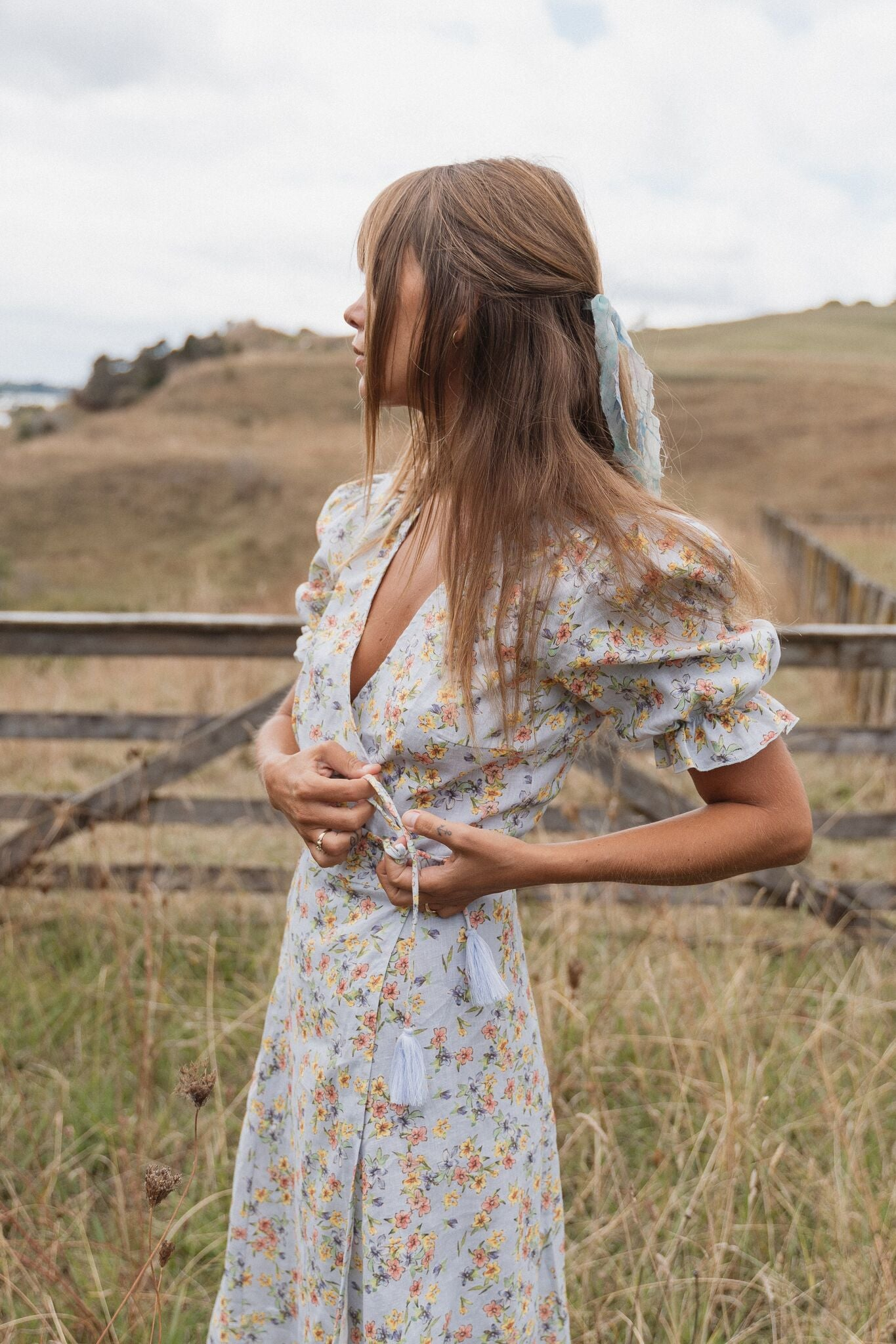THE ALICE MIDI WRAP DRESS | SPRING BOUQUET