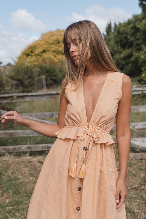 THE BYRON MAXI DRESS | SUMMER TAN