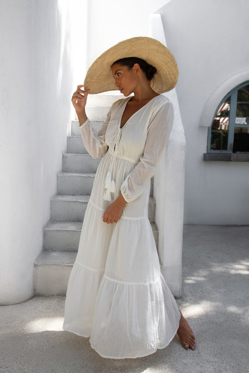 THE LANA MAXI DRESS | WHITE