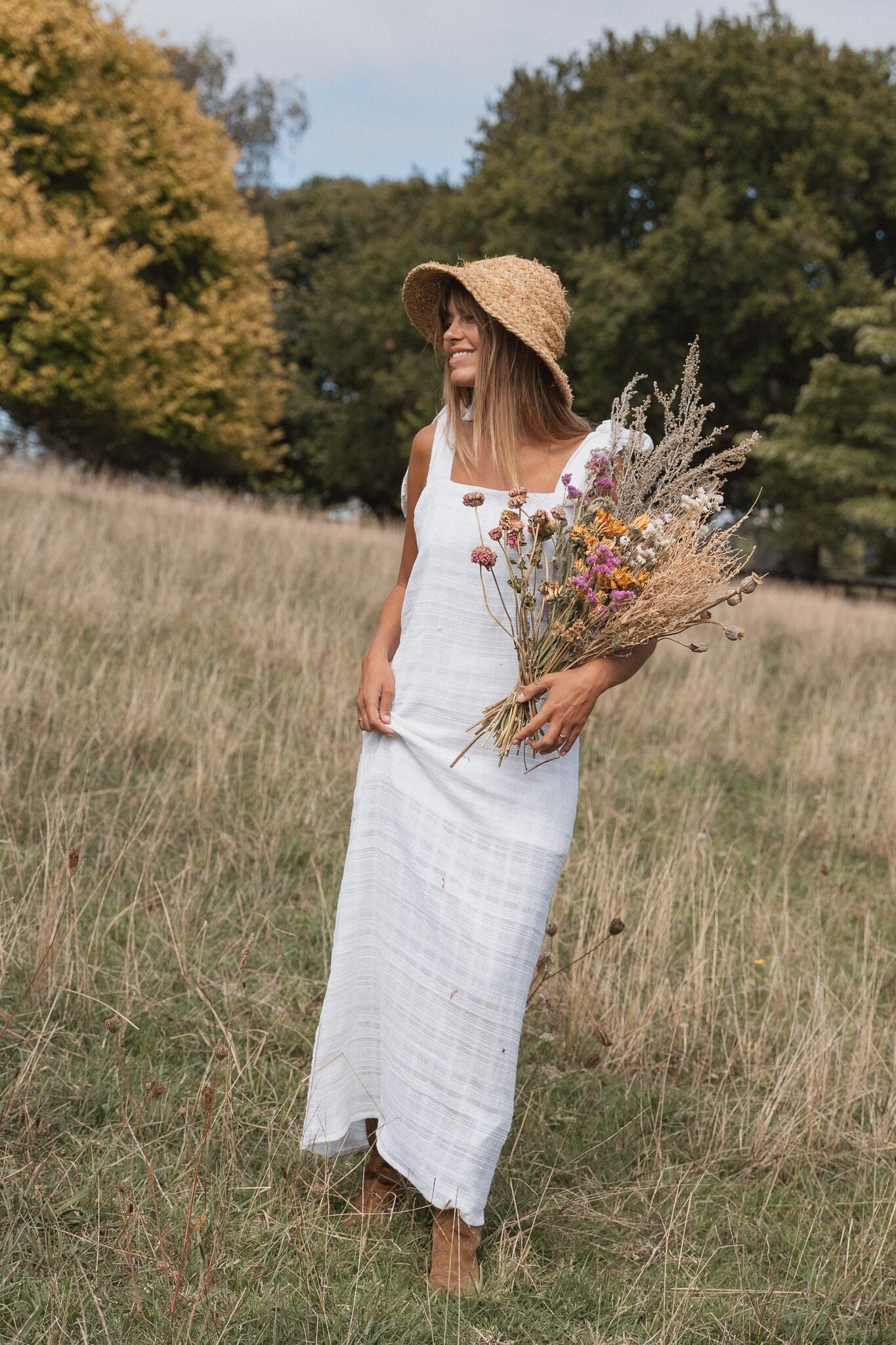 THE STELLA MAXI DRESS | WHITE