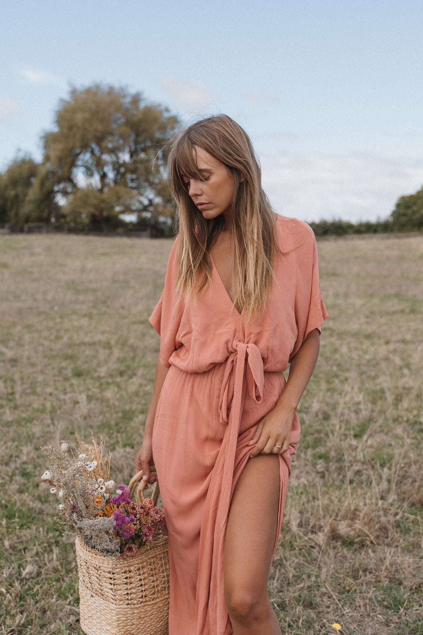 THE MELODY MAXI DRESS | DUSTY ROSE