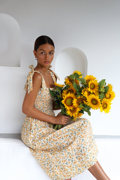 THE FARRAH MINI DRESS | SUNFLOWERS