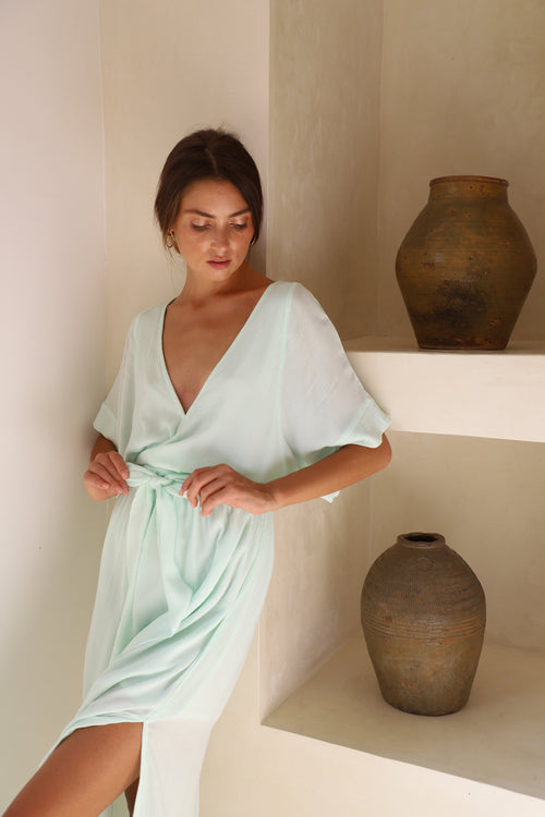 THE MELODY MAXI DRESS | AQUA