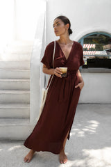 THE MELODY MAXI DRESS | ESPRESSO