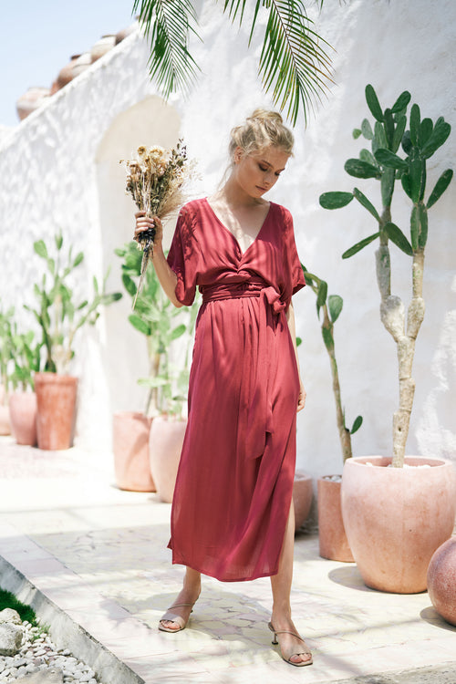 THE MELODY MAXI DRESS | BORDEAUX