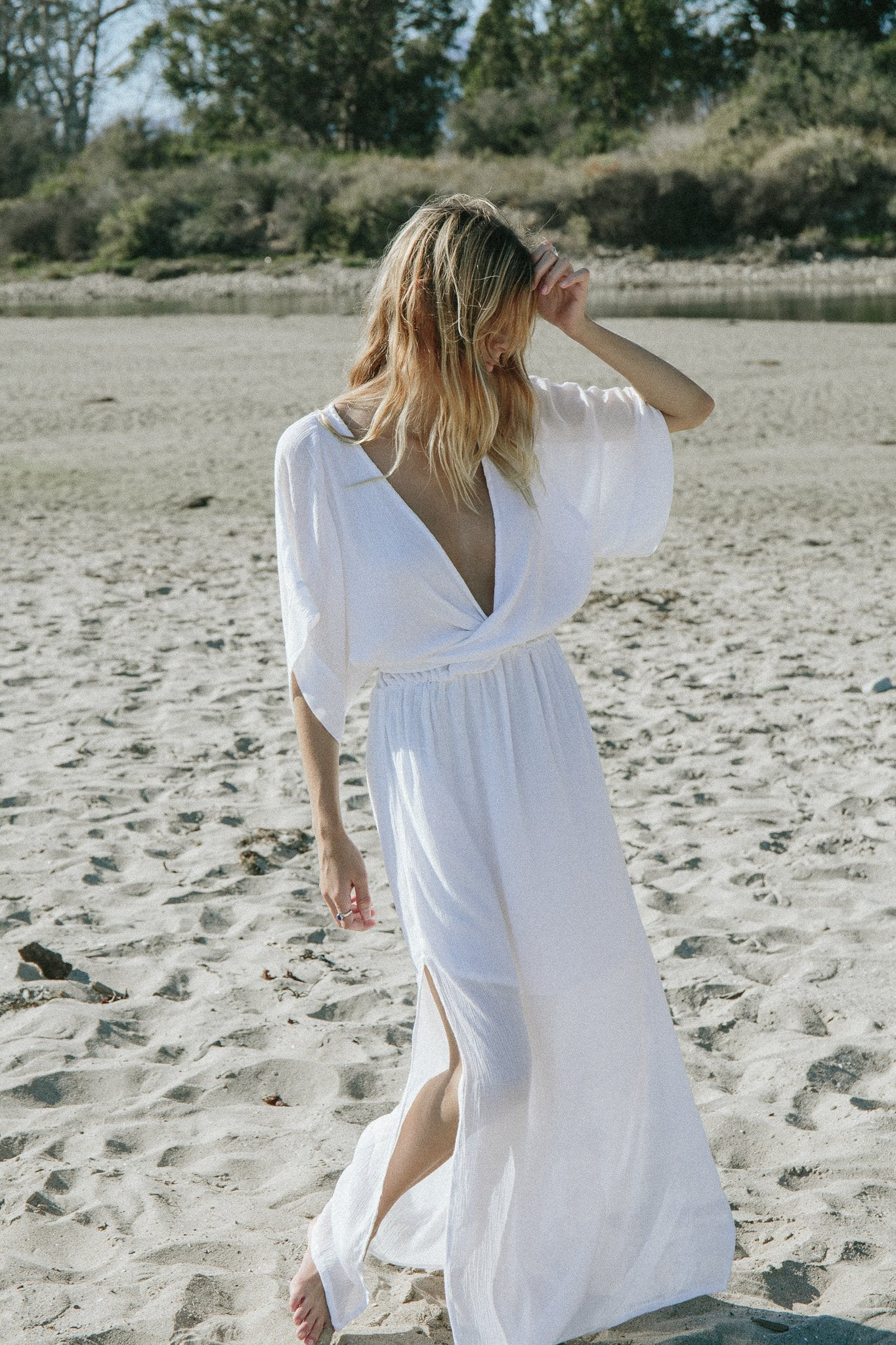 THE MELODY MAXI DRESS | WHITE