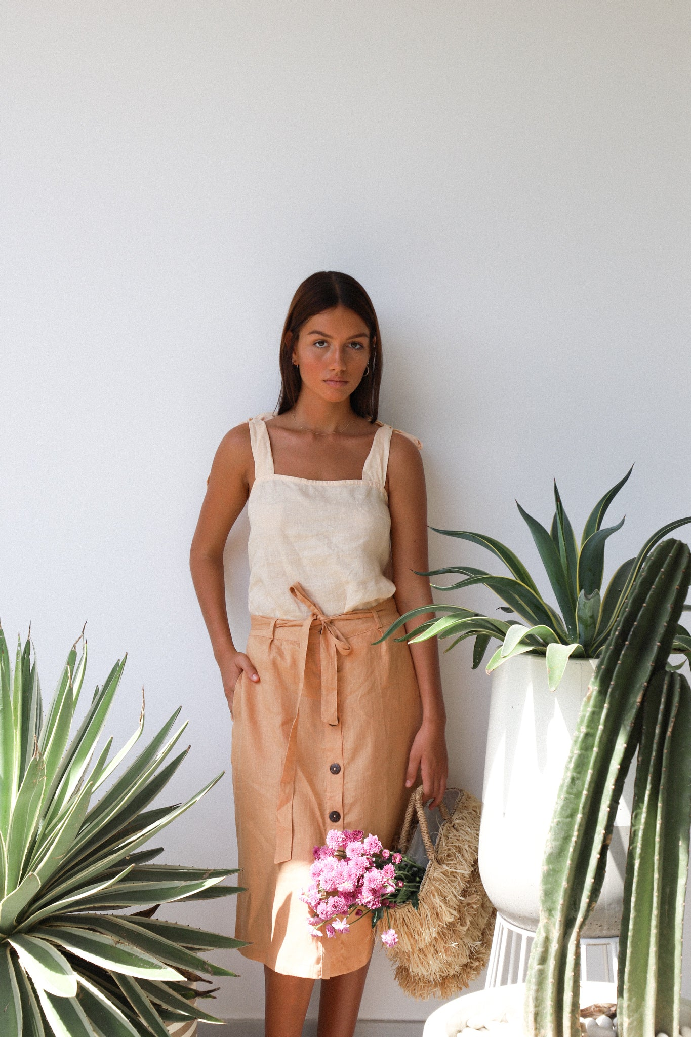 THE GRETA SKIRT | TAN